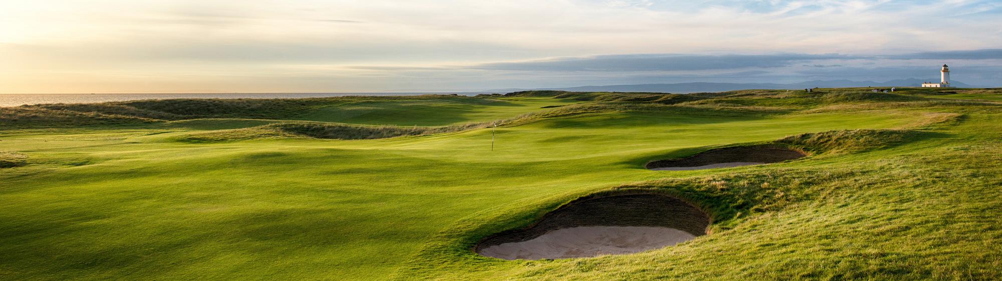 Golfer and partner tour scotland
